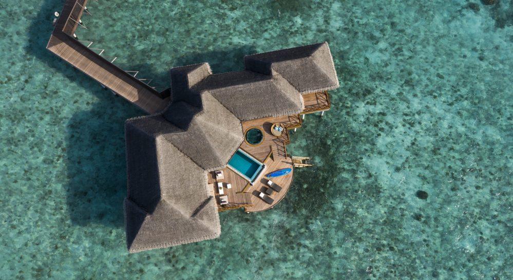 1 Huvafen Fushi Two Bedroom Ocean Pavilion Ariel