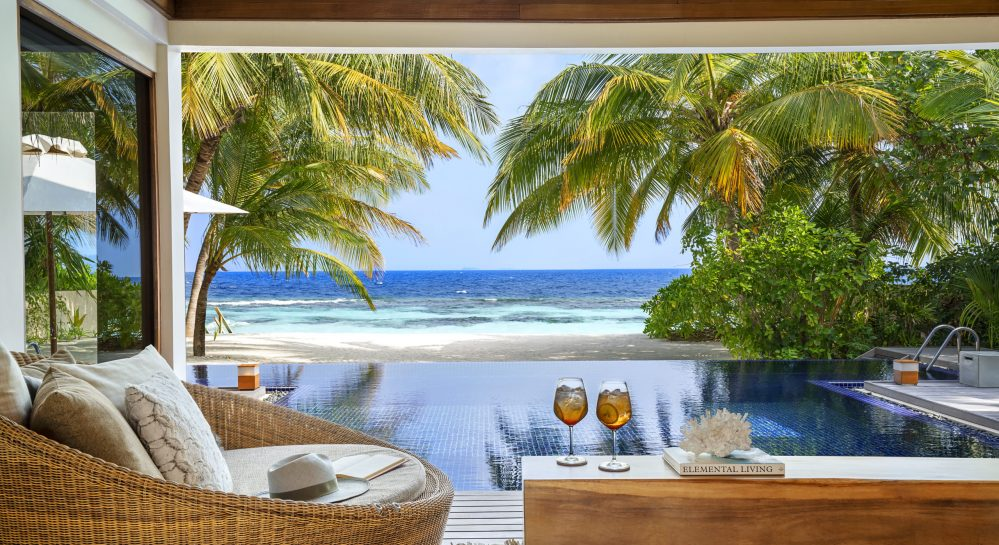 11 Huvafen Fushi Two Bedroom Beach Pavilion Exterior View