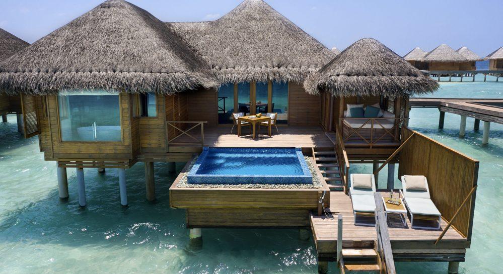 2 Huvafen Fushi Lagoon Bungalow with Pool Exterior