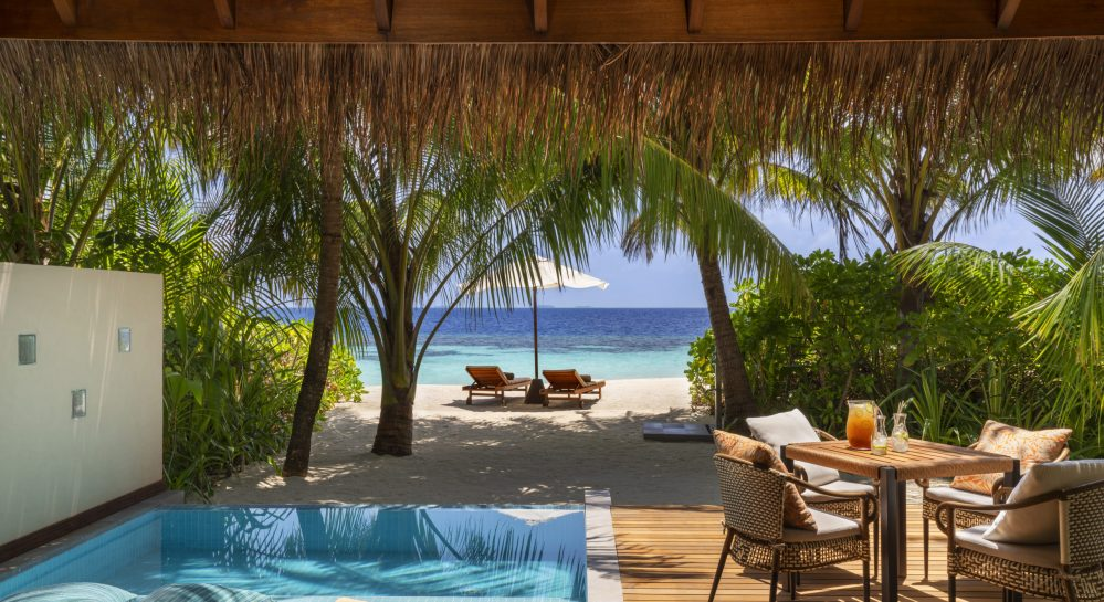 3 Huvafen Fushi Deluxe Beach Bungalow with Pool Exterior View