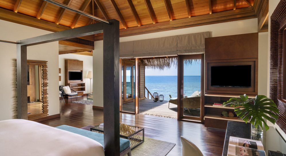 3 Huvafen Fushi Ocean Bungalow with Pool Bedroom View