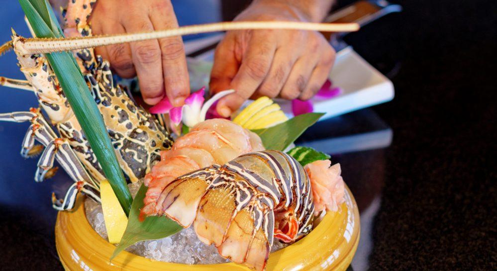 3b Huvafen Fushi Feeling Koi Seafood Lobster