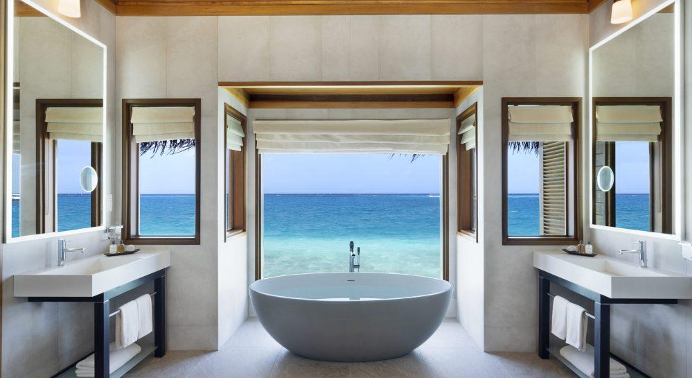 4 Huvafen Fushi Lagoon Bungalow with Pool Bathroom
