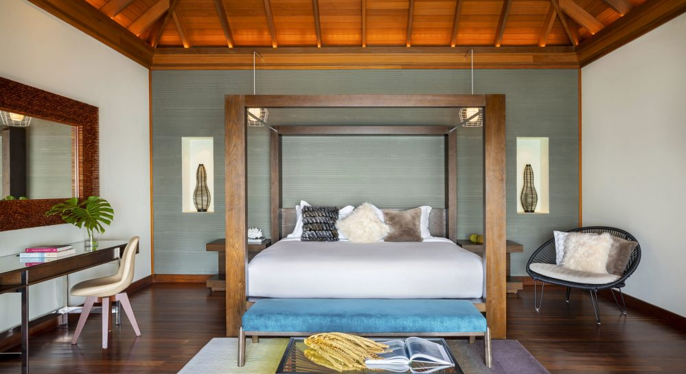 4 Huvafen Fushi Ocean Bungalow with Pool Bedroom