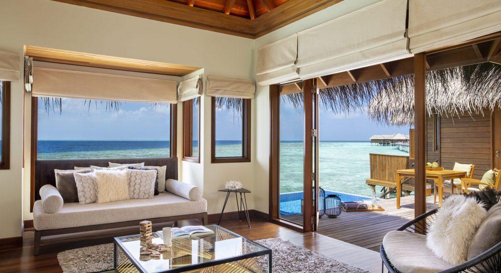 4 Huvafen Fushi Ocean Bungalow with Pool Living Area View
