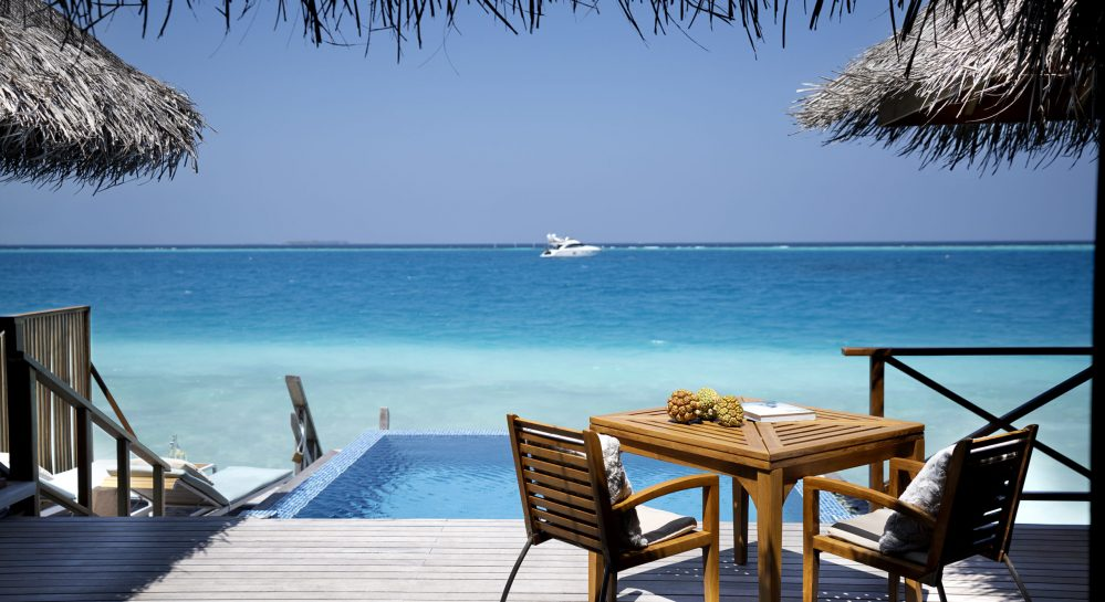 5 Huvafen Fushi Lagoon Bungalow with Pool Exterior Deck