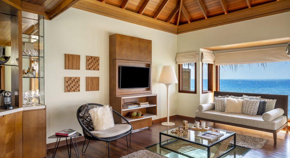 5 Huvafen Fushi Ocean Bungalow with Pool Living Area