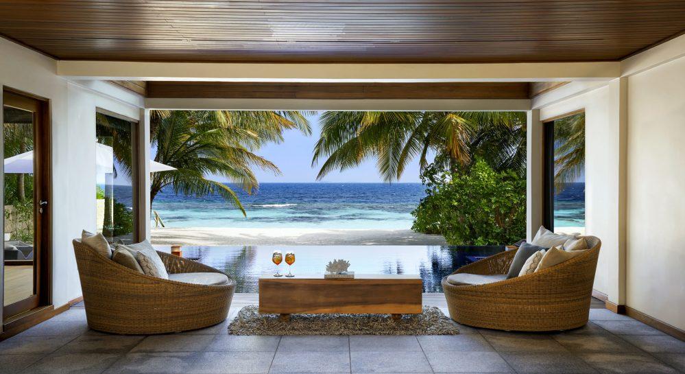 5 Huvafen Fushi Two Bedroom Beach Pavilion Outdoor Courtyard