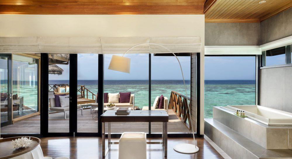 5 Huvafen Fushi Two Bedroom Ocean Pavilion Master Bedroom View