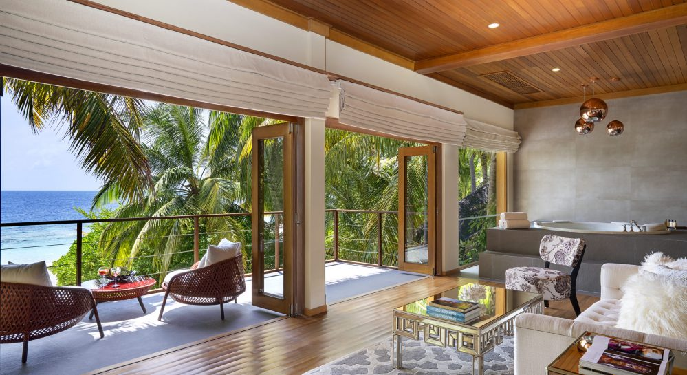 6 Huvafen Fushi Cube First Floor Master Bedroom Living Area _ Balcony