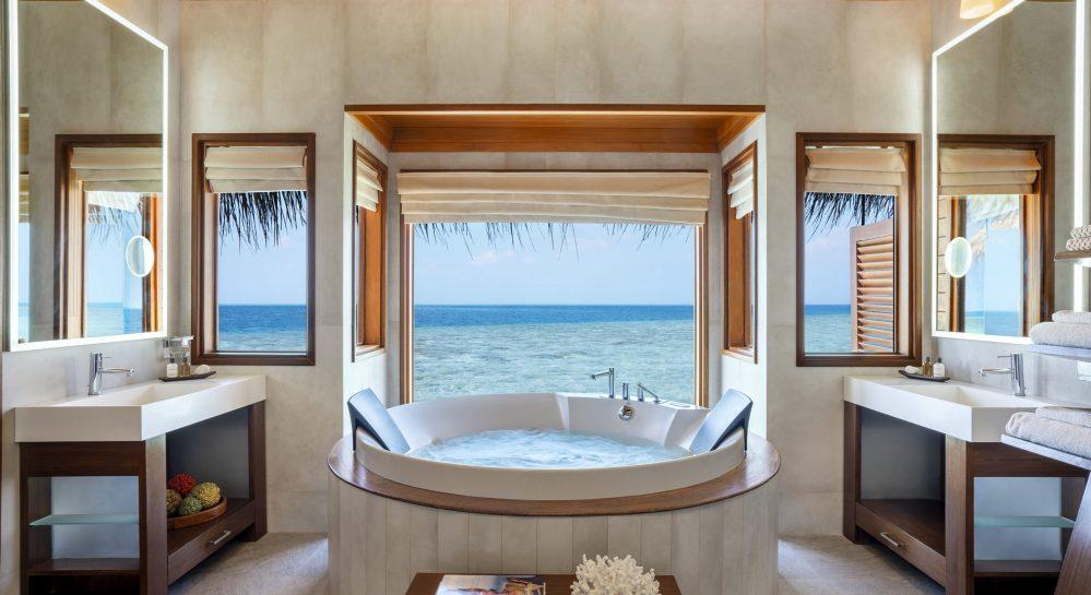 6 Huvafen Fushi Ocean Bungalow with Pool Bathroom Jacuzzi