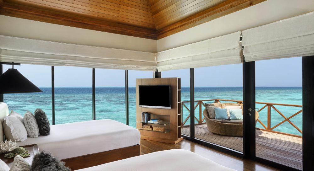 6 Huvafen Fushi Two Bedroom Ocean Pavilion Second Bedroom View