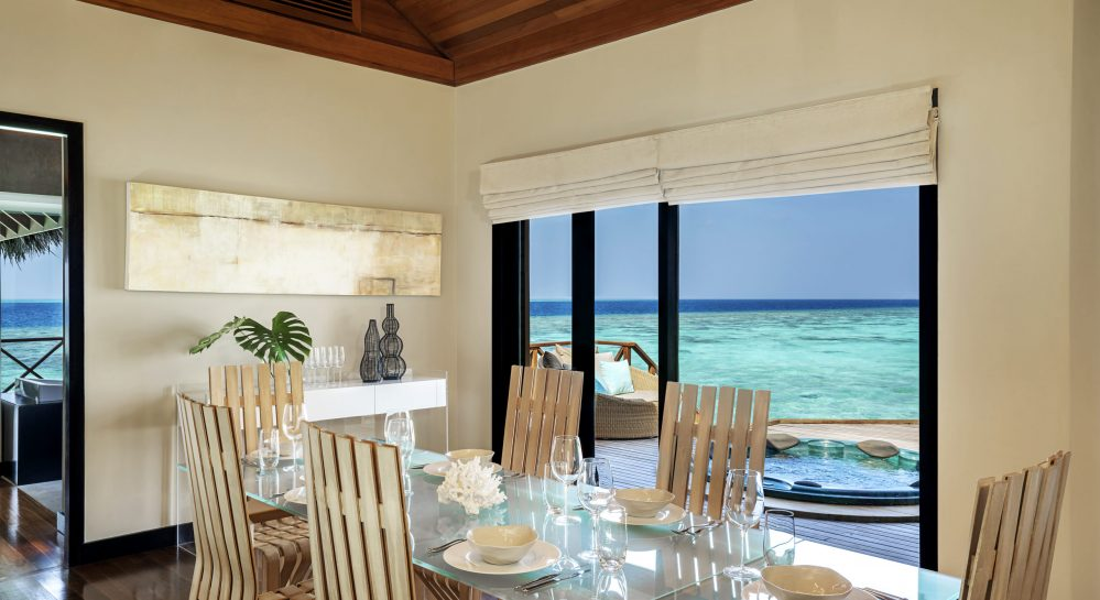 8 Huvafen Fushi Two Bedroom Ocean Pavilion Dining Area