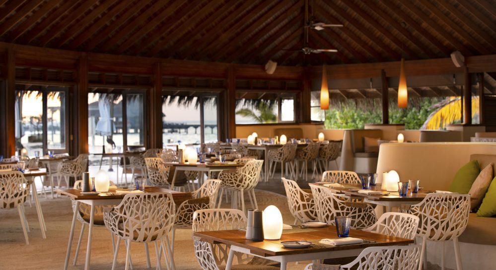 Huvafen Fushi Celsius Restaurant Interior Seating 2