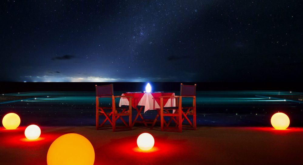 Huvafen Fushi Destination Dining Starlit Dinner.