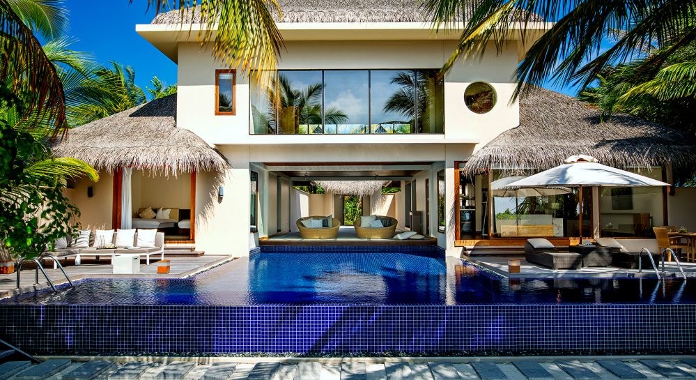 Huvafen-Fushi-Two-Bedroom-Beach-Pavilion-Exterior-Front