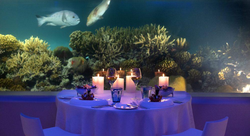 Huvafen Fushi Underwater Dinner